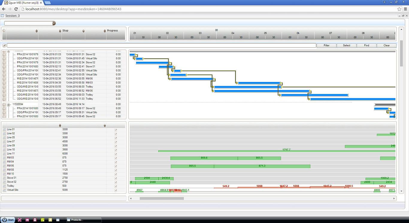 System APS - Beispielschirm